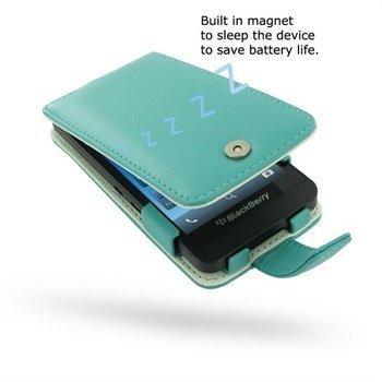 BlackBerry Z10 PDair Nahkakotelo Turkoosi