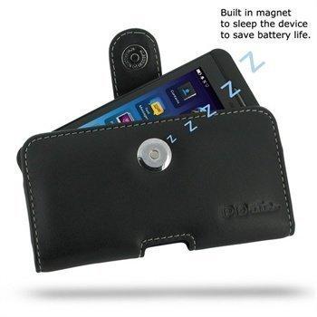 BlackBerry Z10 PDair Vaakakotelo Nahka Musta