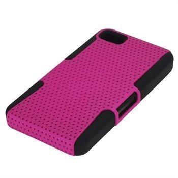 BlackBerry Z10 Rei'itetty Hybridikotelo Musta / Tumma Pinkki