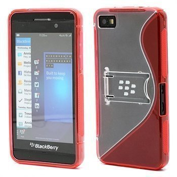 BlackBerry Z10 S-Shape Hybrid Suojakotelo Punainen