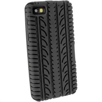 BlackBerry Z10 iGadgitz Tyre Tread Design Silicone Case Black