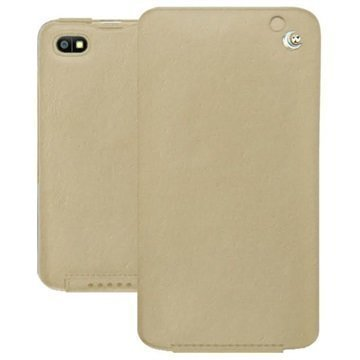 BlackBerry Z30 Noreve Tradition Flip Leather Case Beige