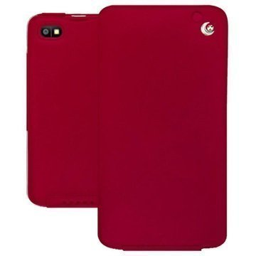 BlackBerry Z30 Noreve Tradition Flip Leather Case Red