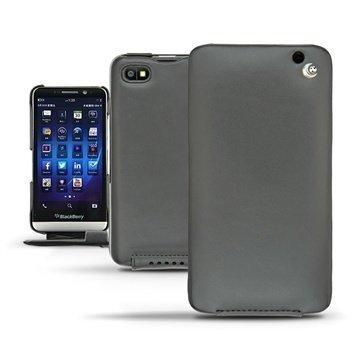 BlackBerry Z30 Noreve Tradition Flip Nahkakotelo Musta