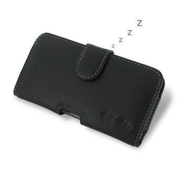 BlackBerry Z30 PDair Vaakakotelo Nahka Musta