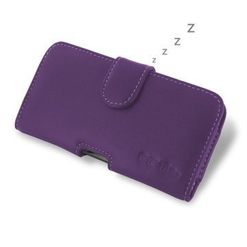 BlackBerry Z30 PDair Vaakakotelo Nahka Violetti