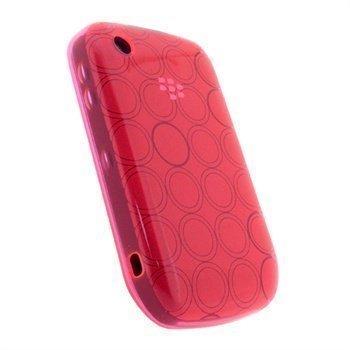 Blackberry Curve 8520 Curve 3G 9300 iGadgitz Ympyräkuvioitu TPU-Suojakotelo Pinkki