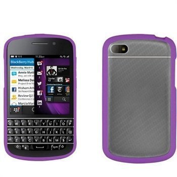 Blackberry Q10 Beyond Cell Aquaflex TPU Kotelo Violetti / Kirkas