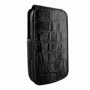 Blackberry Q10 Piel Frama Imagnum Nahkakotelo Krokotiili Musta