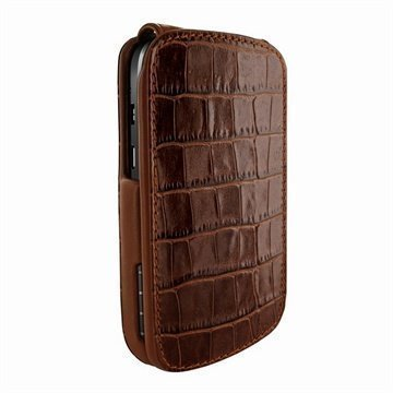 Blackberry Q10 Piel Frama Imagnum Nahkakotelo Krokotiili Ruskea