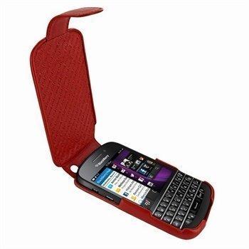 Blackberry Q10 Piel Frama Imagnum Nahkakotelo Punainen