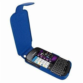 Blackberry Q10 Piel Frama Imagnum Nahkakotelo Sininen