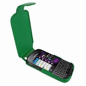 Blackberry Q10 Piel Frama Imagnum Nahkakotelo Vihreä