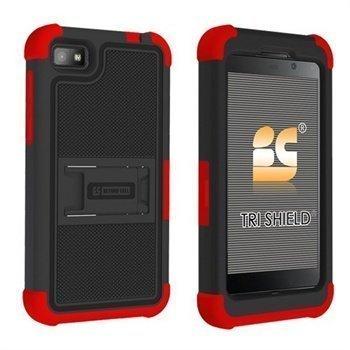 Blackberry Z10 Beyond Cell Tri Shield Hybrid Suojakotelo Musta / Punainen