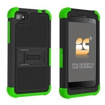 Blackberry Z10 Beyond Cell Tri Shield Hybrid Suojakotelo Musta / Vihreä