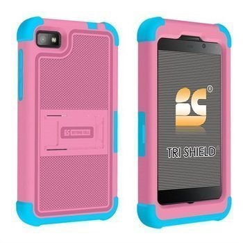 Blackberry Z10 Beyond Cell Tri Shield Hybrid Suojakotelo Pinkki / Vaaleansininen