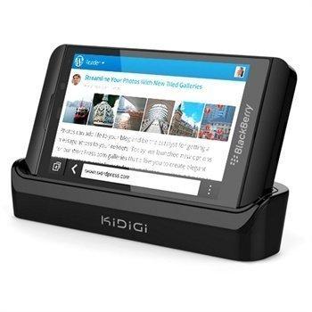 Blackberry Z10 Kidigi Cover-Mate USB-Pöytälaturi Musta