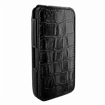 Blackberry Z10 Piel Frama iMagnum Nahkakotelo Kroko Musta