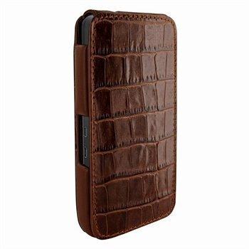 Blackberry Z10 Piel Frama iMagnum Nahkakotelo Kroko Ruskea