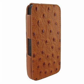 Blackberry Z10 Piel Frama iMagnum Nahkakotelo Strutsi Ruskea