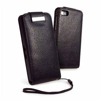 Blackberry Z10 Tuff-Luv E-Volve Nahkainen Läppäkotelo Musta