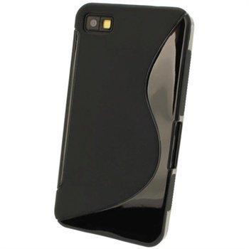 Blackberry Z10 iGadgitz Kaksisävyinen TPU-Suojakotelo Musta