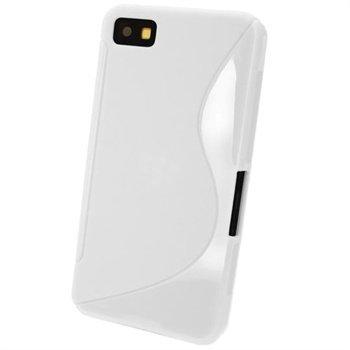 Blackberry Z10 iGadgitz Kaksisävyinen TPU-Suojakotelo Valkoinen
