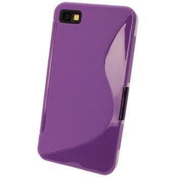 Blackberry Z10 iGadgitz Kaksisävyinen TPU-Suojakotelo Violetti