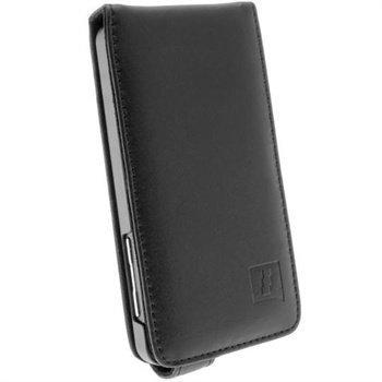 Blackberry Z10 iGadgitz Nahkainen Läppäkotelo Musta
