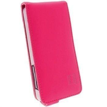 Blackberry Z10 iGadgitz Nahkainen Läppäkotelo Pinkki