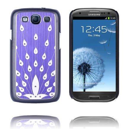 Bling Violetti Samsung Galaxy S3 Alumiininen Suojakuori