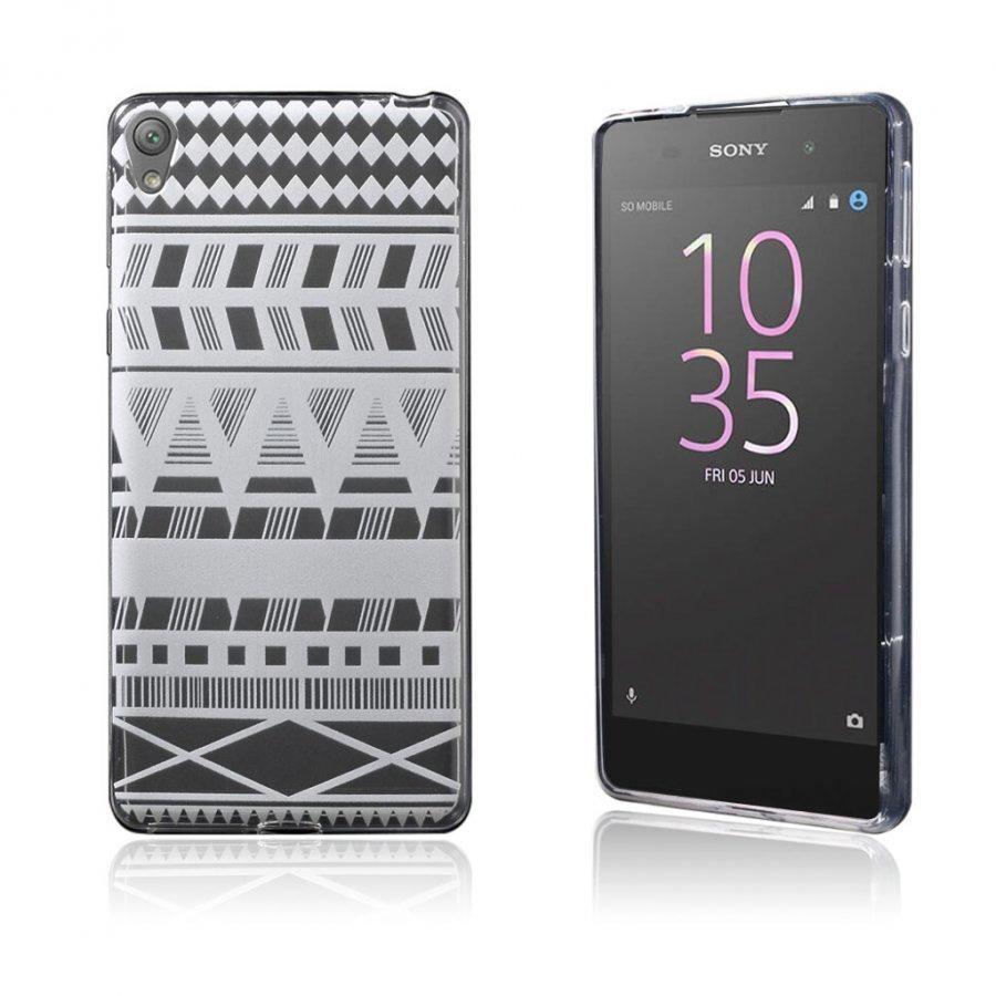 Blixen Sony Xperia E5 Erittäin Ohut Joustava Muovikuori Geometrinen Kuvio