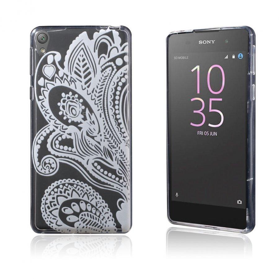 Blixen Sony Xperia E5 Erittäin Ohut Joustava Muovikuori Kauniita Kukkia