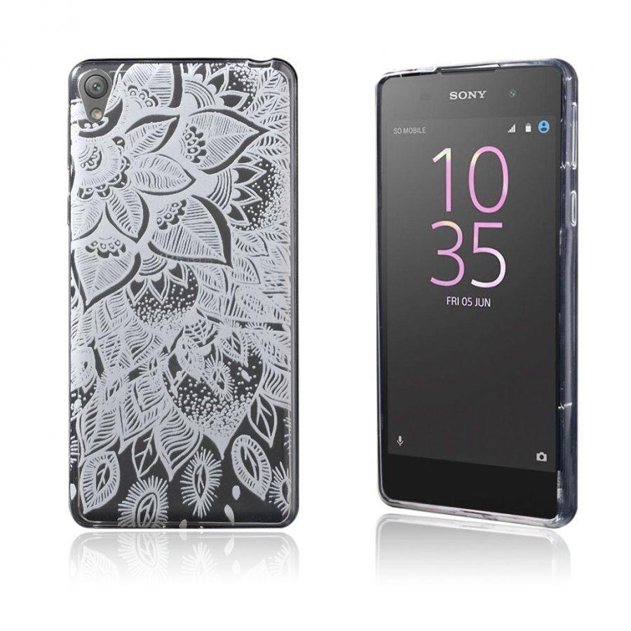 Blixen Sony Xperia E5 Erittäin Ohut Joustava Muovikuori Kukka Kuvio
