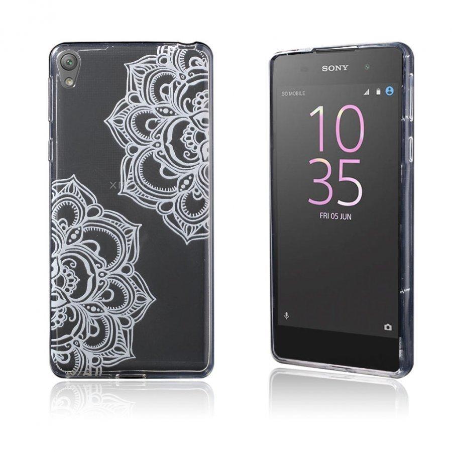 Blixen Sony Xperia E5 Erittäin Ohut Joustava Muovikuori Mandala Kukka Kuvio