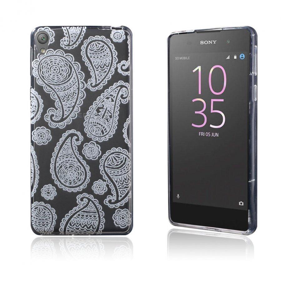 Blixen Sony Xperia E5 Erittäin Ohut Joustava Muovikuori Modernit Kukat