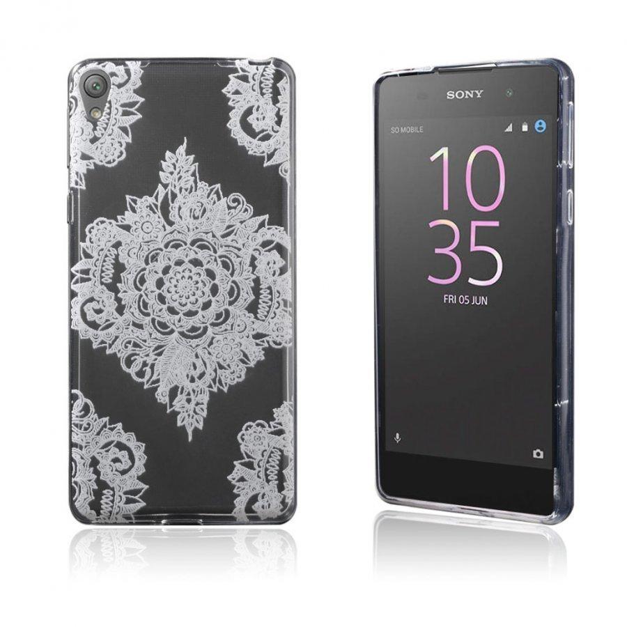 Blixen Sony Xperia E5 Erittäin Ohut Joustava Muovikuori Saumaton Henna Kukka