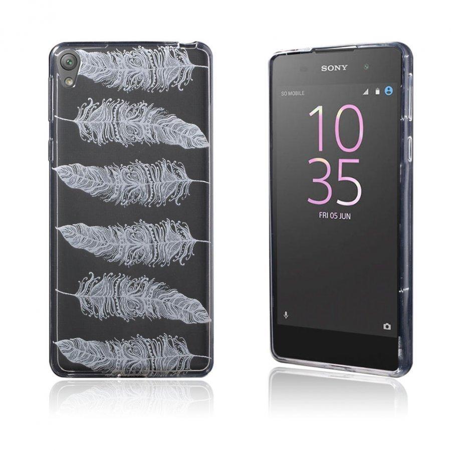 Blixen Sony Xperia E5 Erittäin Ohut Joustava Muovikuori Sulka Kuvio
