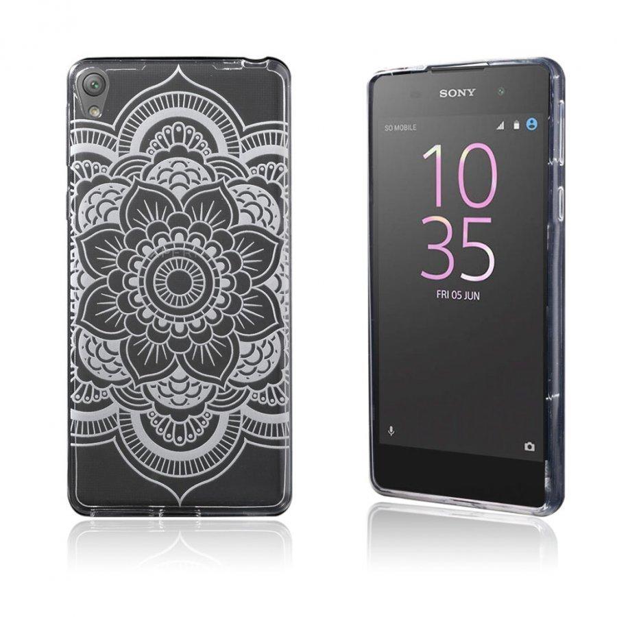 Blixen Sony Xperia E5 Erittäin Ohut Joustava Muovikuori Tuoreita Kukkia