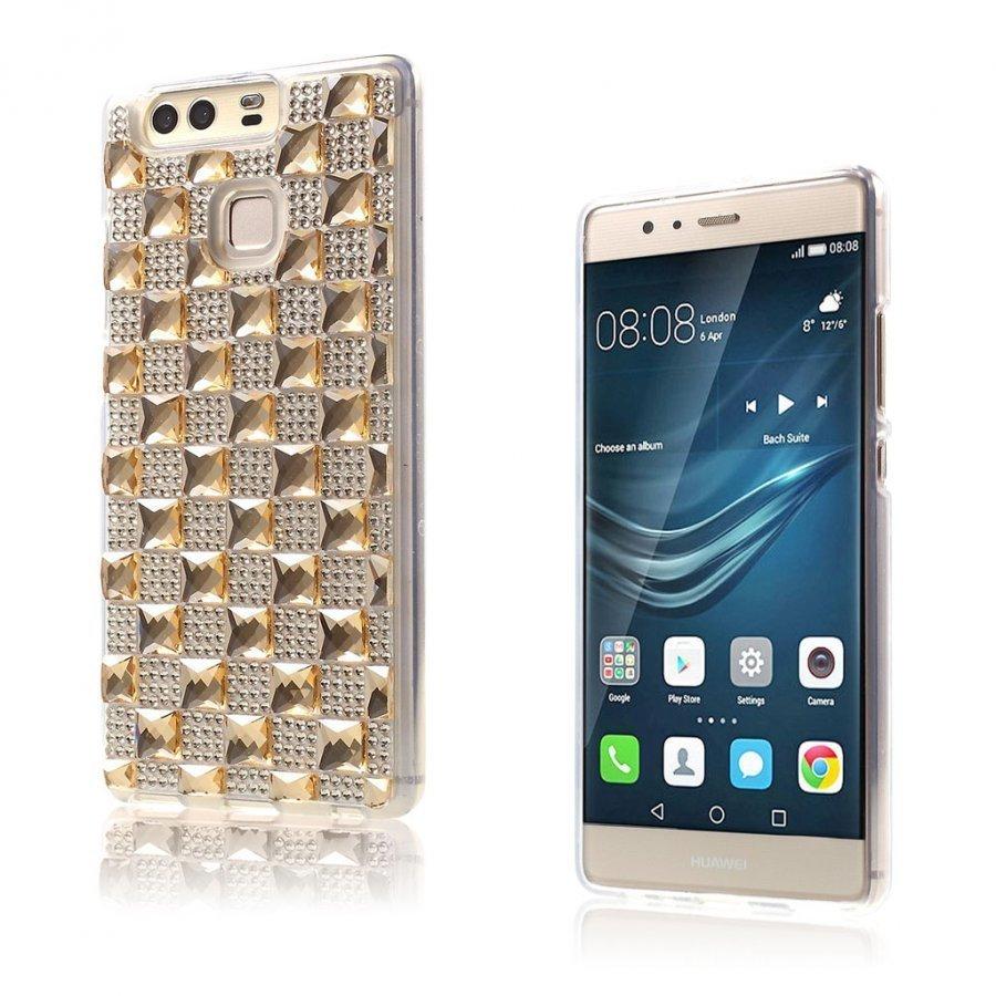 Blixen Tekojalokivi Timantti Kuvioinen Suojaava Tpu Kuori Huawei P9 Puhelimelle Kulta