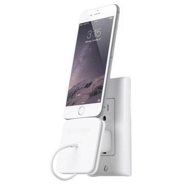 Bluelounge Rolio Latausasema iPhone 6 / 6S iPhone 5C Valkoinen