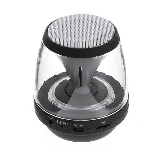 Bluetooth Minikaiutin Led Valoilla Aux Sisääntulolla Sekä Tf / Microsd-Muistikortti Paikalla Musta