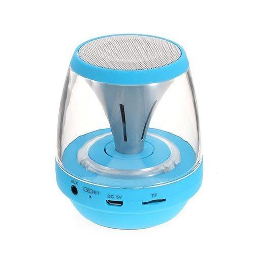Bluetooth Minikaiutin Led Valoilla Aux Sisääntulolla Sekä Tf / Microsd-Muistikortti Paikalla Sininen