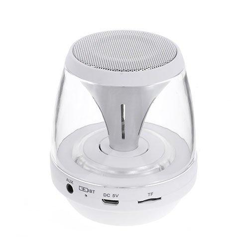 Bluetooth Minikaiutin Led Valoilla Aux Sisääntulolla Sekä Tf / Microsd-Muistikortti Paikalla Valkoinen
