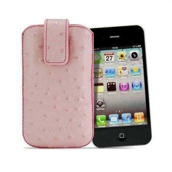 Blumax Ostrich Leather Case Light Pink