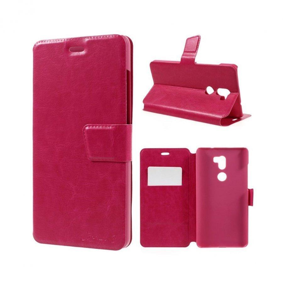 Bosilang Xiaomi Mi 5s Nahkakotelo Magneetilla Kuuma Pinkki