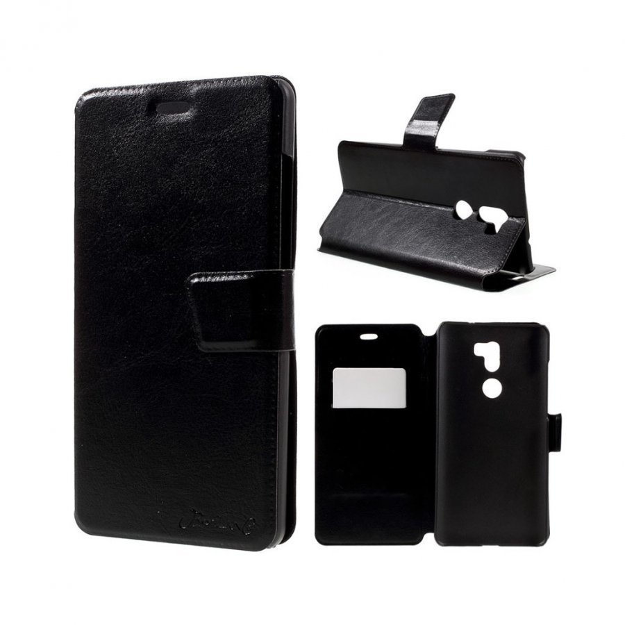 Bosilang Xiaomi Mi 5s Nahkakotelo Magneetilla Musta