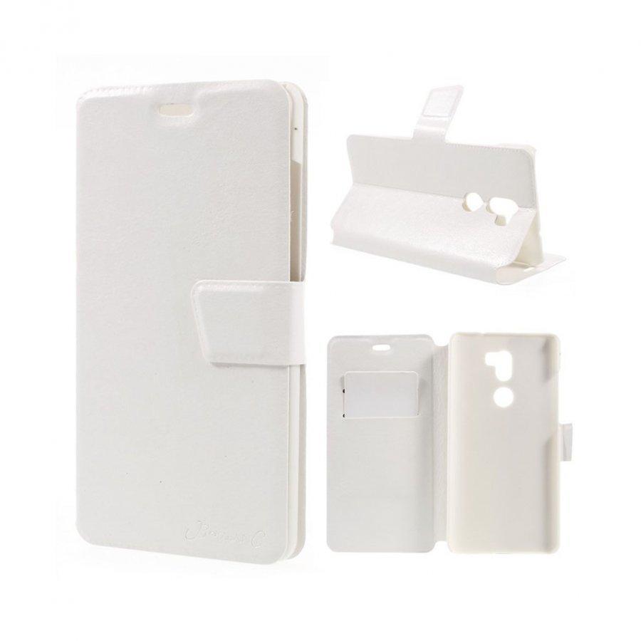 Bosilang Xiaomi Mi 5s Nahkakotelo Magneetilla Valkoinen