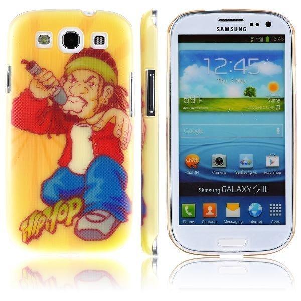 Boy Street Funk Oranssi Räppäri Samsung Galaxy S3 Suojakuori