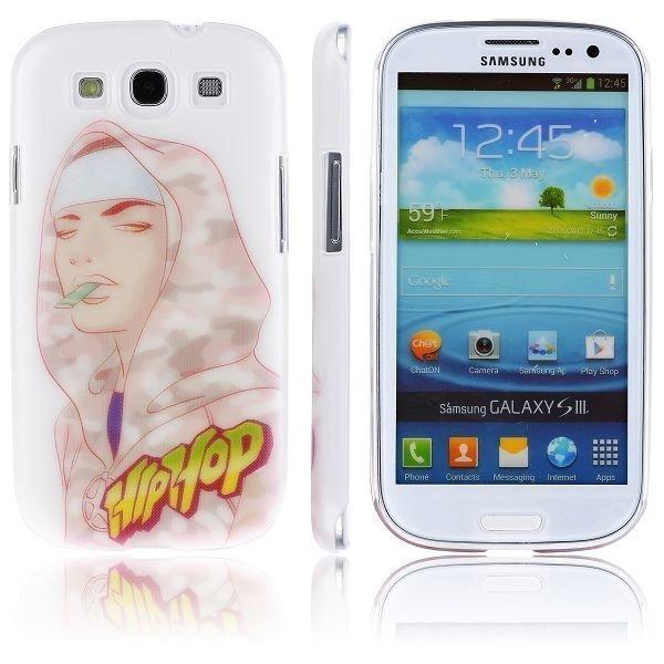 Boy Street Funk Valkoinen Aavikko Maastokuvio Samsung Galaxy S3 Suojakuori